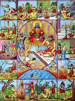 65-hindu-hell-lord-yama-and-lord-chitragupta-a-woman-and-two-men-await-their-judgement