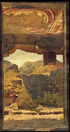 Ajanta view from the veranda of cave XVI by J Griffiths
