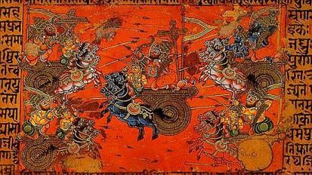 Battle-of-Kurukshetra-Manuscript-Illustration