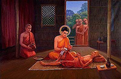 Buddha sick monk