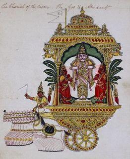 Chandra drawn by ten horses