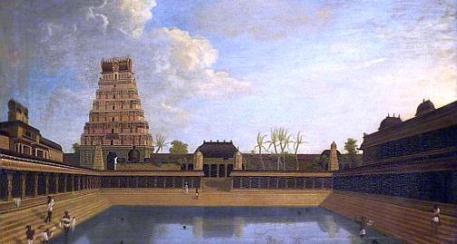 Chidambaram Temple by Fransis Ward 1772