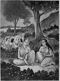 Draupadi and Satyabhama