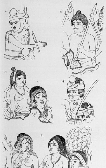 figures in Ajanta cave 10