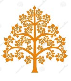 golden-bodhi-tree-symbol-thai-style-isolate-background-vector-illustration-54289542