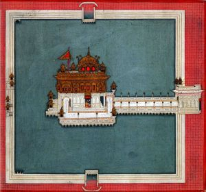 Golden Temple, Amritsar, Punjabi Miniature, c 1840