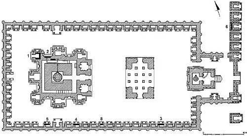 Kailasanatha Kanchipuram original ground plan