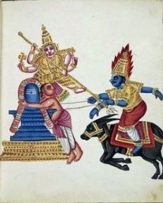 Markandeya is embracing a linga