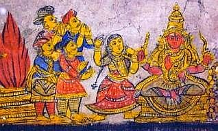 Mural at the Big Temple - The quartet