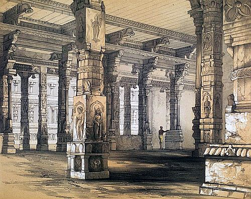 Porch of Parvati's Temple at Chillambram - 1847