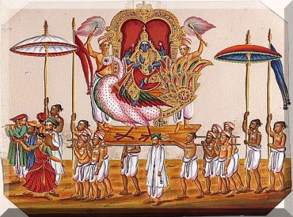 procession of Jambunatha Trichinopoly, ca.1850