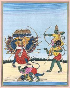 rama deating ravana