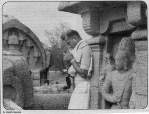 S Rajam at Mahabalipuram
