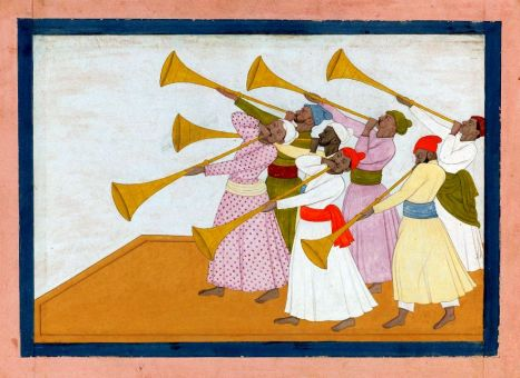 Sml. Attr Nainsukh, A Troupe of Trumpeters