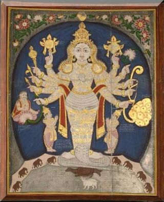 South Indian, late 19th c, Vishnu