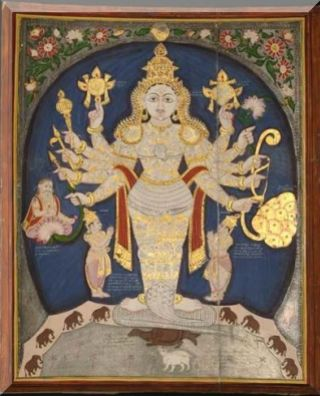 South Indian, late 19th c, Vishnu