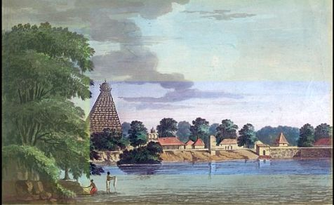 Tanjore temple by Capt. Trapaud - 1788.