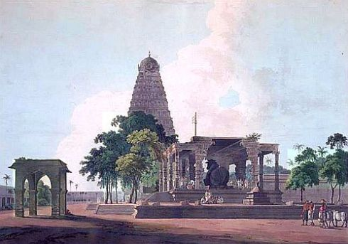 Tanjore temple William Daniell 1798