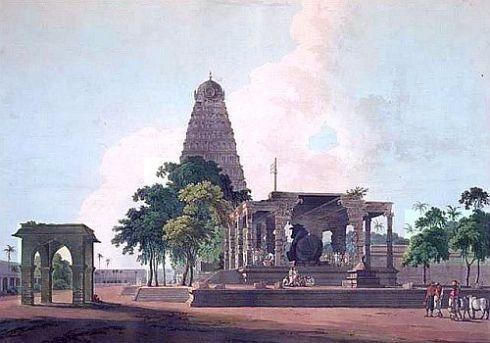 Tanjore temple William Daniell 1798