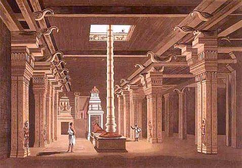 temple courtyard - Daniell, Thomas