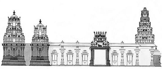 Temple Layout Drawing