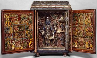 vishnu portable shrine