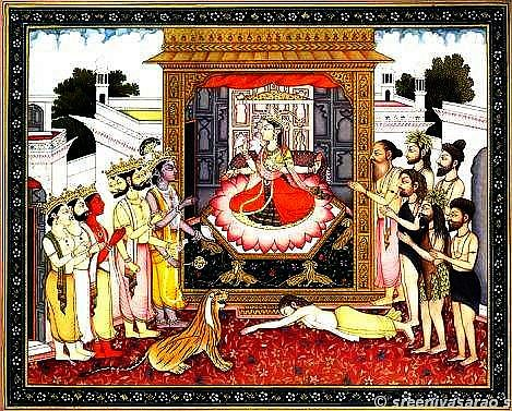 adoration_of_supreme_goddess_by_vishnu_brahma_devas_hh70-b