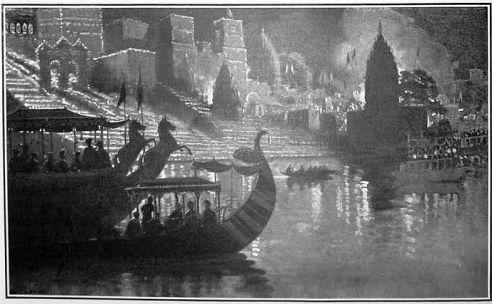 Benares by night