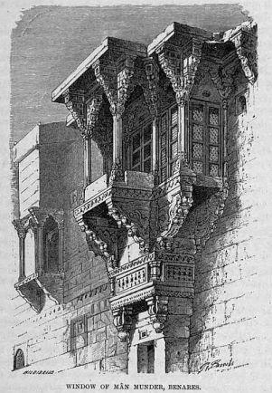 Benares window at Man Mandir