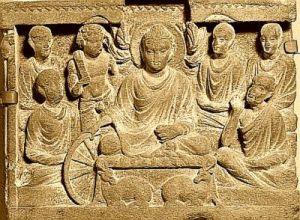 Buddha preaching