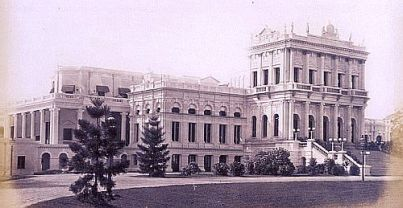 Calcutta Belvedere, Calcutta. The Lieut Governor of Bengal's official residence - 1878