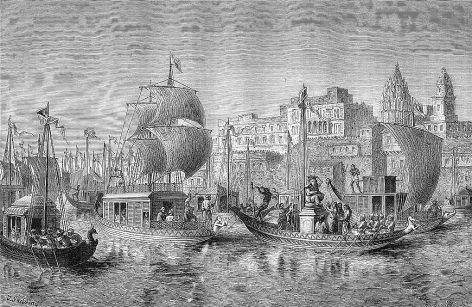 Diwali in Benares  from 'Le Tour du Monde 1874