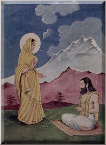 Gayatri appears before Visvamitra