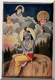 krishna with gods