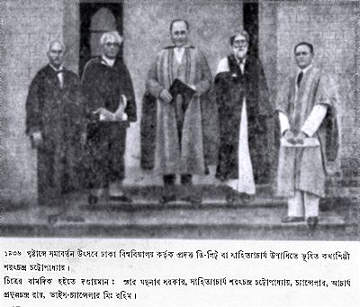 sarat Chandra Dacca 1936