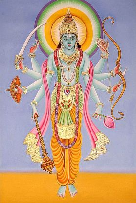 vishnu with ayudhas