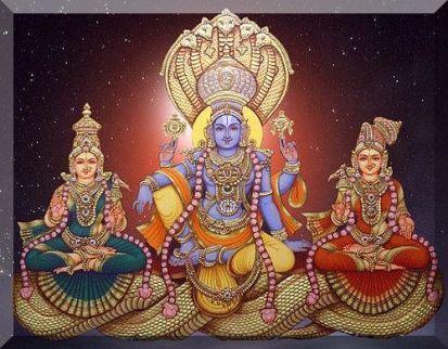 vishnu with sridevi bhudevi