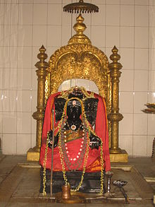Tyagaraja_Swamy_Idol_at_samadhi_mandir_in_Tiruvaiyaru