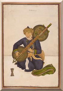 Miyan Himmat Khan kalāwant, chief hereditary musician to the last of the Mughal emperors Akbar Shah and Bahadur Shah Zafar