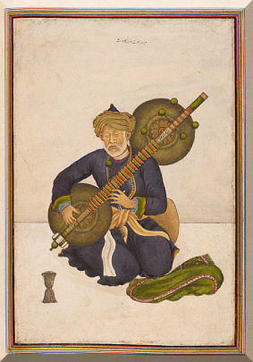 Miyan Himmat Khan kalāwant, chief hereditary musician to the last of the Mughal emperors Akbar Shah and Bahadur Shah Zafar