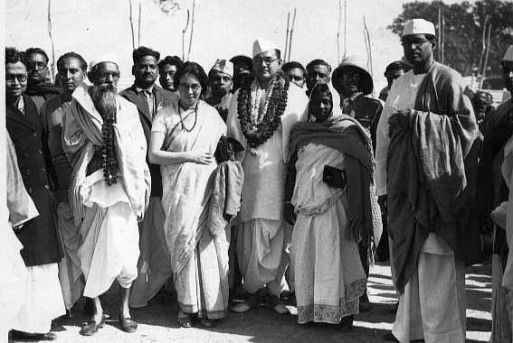 Bose With Mr. & Mrs. M.N. Roy, 1938