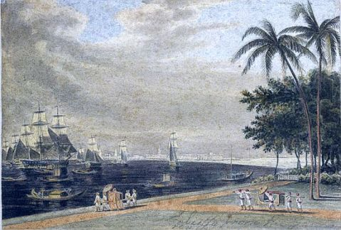 Calcutta view of culcutta from garden Reach 1810