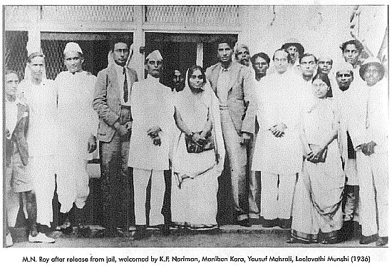 M N Roy received after release from Jail 1936