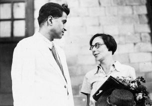 M.N. Roy with his second wife Ellen Gottschalk in Bombay in March 1937.
