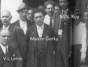 roy with lenin and gorky