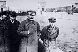 Stalin with Nikolai Yezhov