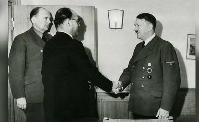 Subash Bose with Hitler