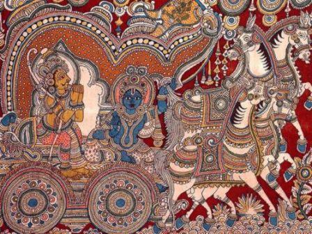 Bhagavadgita Kalamkari