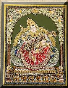 Mysore style of painting of Sri Sharadamba