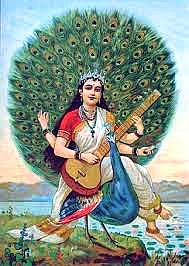 sarasvathi on peacock